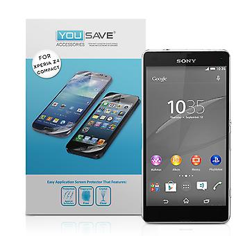 Yousave Accessories Sony Xperia Z4 Compact Screen Protectors X3