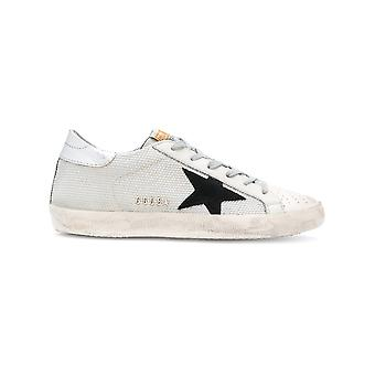 Golden Goose women's G31WS590C39 silver/white leather of sneakers