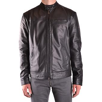 Peuterey men's SAGUARO01NER black leather jacket