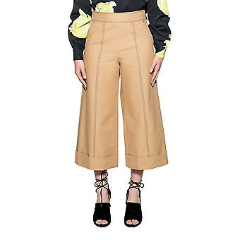 Msgm women's 2241MDP2117410323 Brown cotton trousers