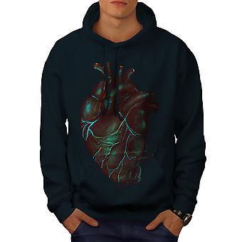 Organi umani Horror uomini NavyHoodie del cuore | Wellcoda