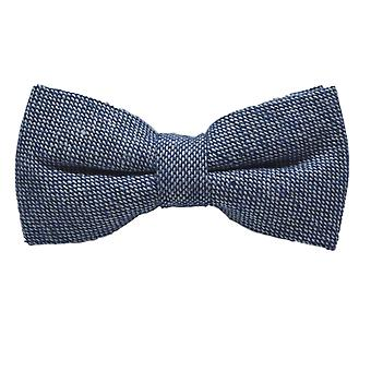 Highland Weave Stonewashed Blue Bow Tie