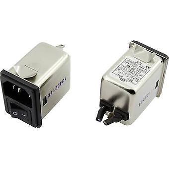 EMI filter + switch, + IEC socket 250 Vac 10 A 0.3 mH
