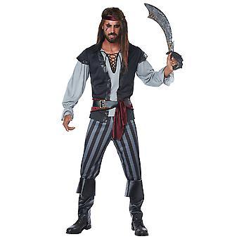 Scallywag pirata Deluxe Swashbuckler Buccaneer Jack Sparrow Mens Costume