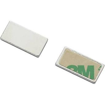 Magnetic pad Conrad Components N35-451502 Silver (L x W) 20 mm x