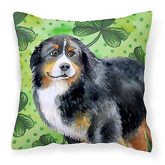 Bernese Mountain Dog St Patrick's Fabric Decorative Pillow
