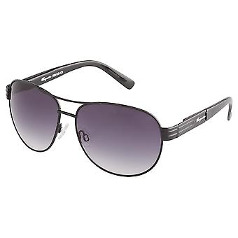 Classic sunglasses for men by Burgmeister with 100% UV protection | sturdy metal frame, high quality sunglasses case, microfiber glasses pouch and 2 year warranty | SBM122-131 Melbourne