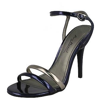 Ladies Anne Michelle Ankle Strap Party Shoes L3379