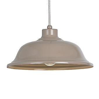 Endon Lighting Laughton Light Slate Grey Pendant Light With Grey And White Flex