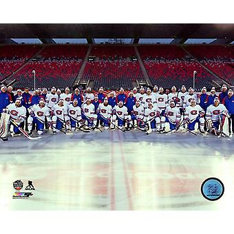Montreal Canadiens Team Photo 2017 Scotiabank NHL 100 Classic Photo Print