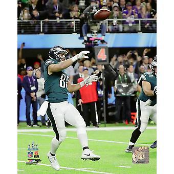 Impression de photos de Trey Burton passe de Touchdown Super Bowl LII