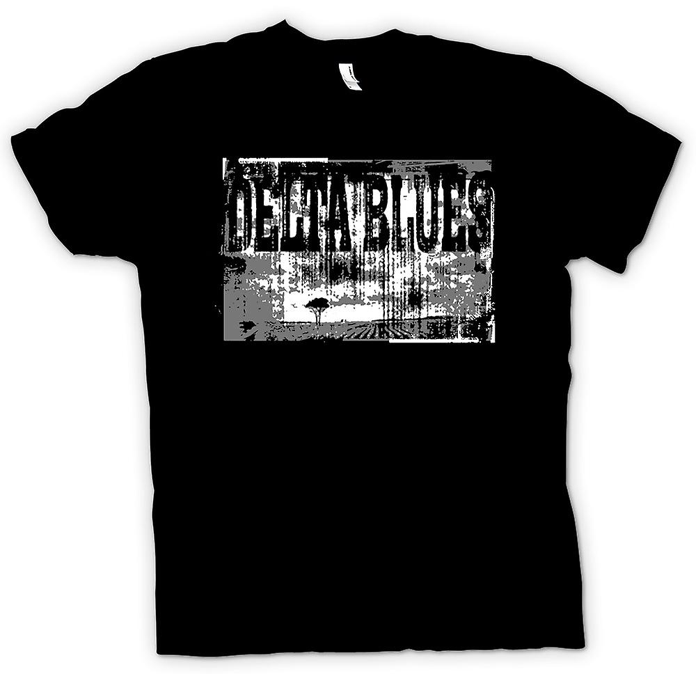 Herr T-shirt - Delta Blues Guitar - rockmusik