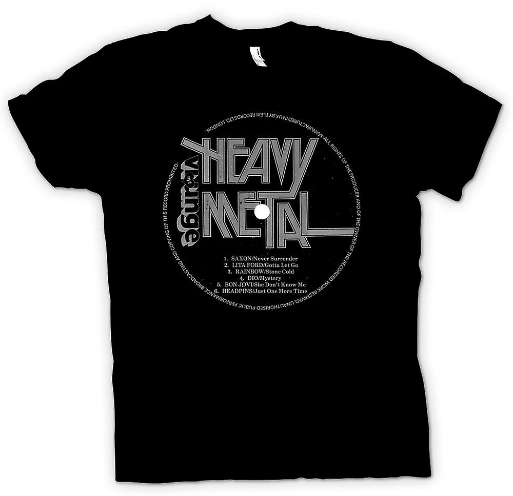 Mens T-shirt - Heavy Metal - Vinyl Print