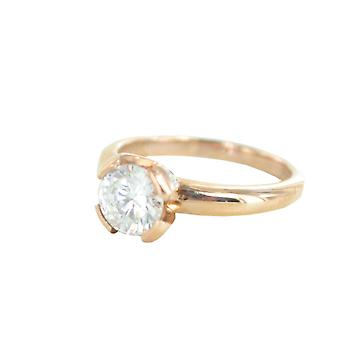 ESPRIT collection ladies ring silver Rosé cubic zirconia of Solaris Gr. 18 ELRG92338C180