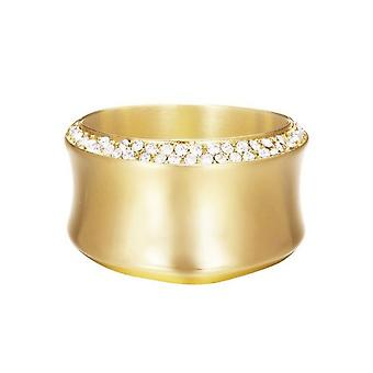 ESPRIT women's ring stainless steel gold Crystal curved ESRG12542B1