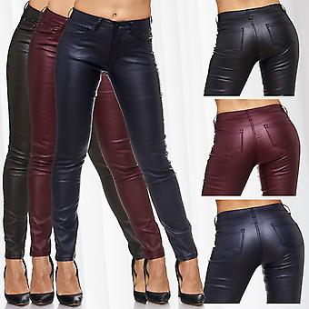 Ladies biker leather of Jeggings Treggings slim jeans sexy pants stretch skinny tube