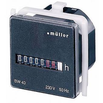 Müller BW4018 funcionamiento horas reloj que contador de rodillos, montaje en Panel, 45 x 45 mm, 7 dígitos, 230 Hz V/50
