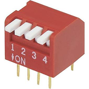 DIP switch Number of pins 4 Piano-type TRU COMPONENTS DP-04 1 pc(s)