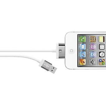 Belkin iPad/iPhone/iPod Data cable/Charger lead [1x USB 2.0 connector A - 1x Apple dock plug] 2 m White