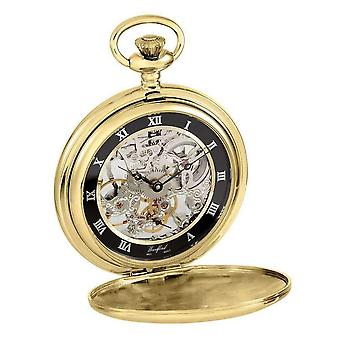 Woodford Full Size Movement Albert Pocket Watch - Gold