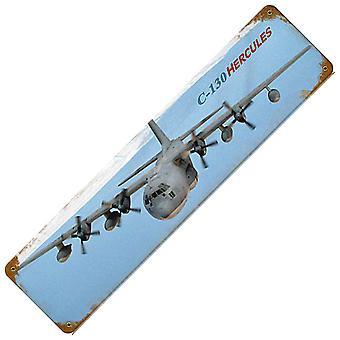 C-130 Геркулес ржавые металлические подписать 200 X 50 мм