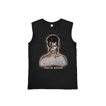 Amplified David Bowie World Tour '72-'73 Tour Black Vest XS