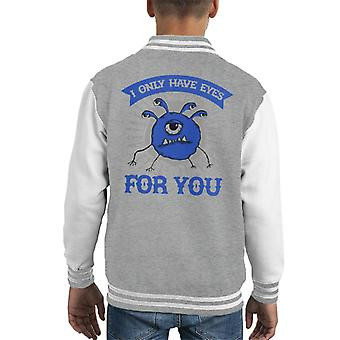 I Only Have Eyes For You Dungeons And Dragons Kid's Varsity Jacket