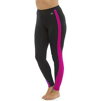 Ladies Tom Franks Two Tone Sport Gym Leggings Fashion Sportswear