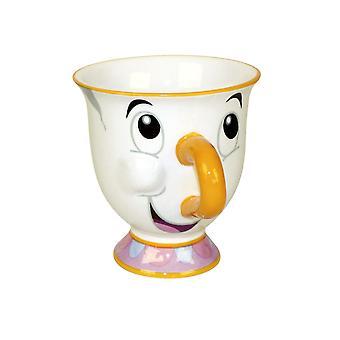 Bella e la bestia Cup Tassilo, chip bianco, stampato, in porcellana, capacità circa 225 ml.
