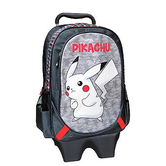Removable 2i1 Pokemon Backpack/suitcase with wheels 43 cm Grey