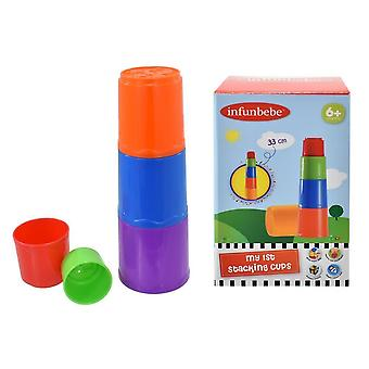 Baby First Stacking Nesting Cups Tumbler Sensory Educational Learning Toy Gift