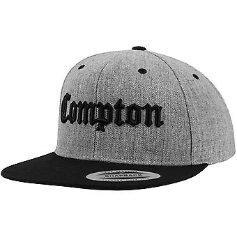 Merchcode Snapback Cap - COMPTON heather grey