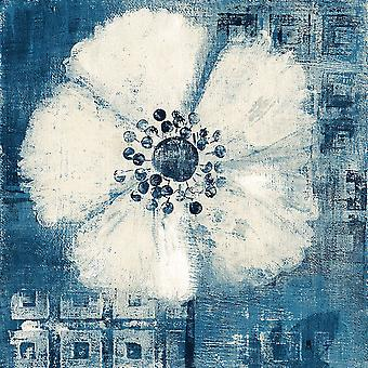 Daisy for Barbara Blue Crop Poster Print by Studio Mousseau