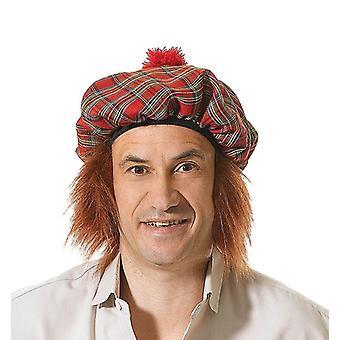 Bnov Шотландский тартан Hat/имбирь волос