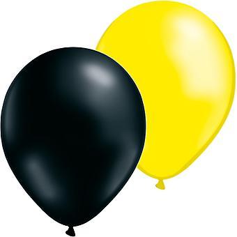 Ballonnen 24-pack-geel/zwart