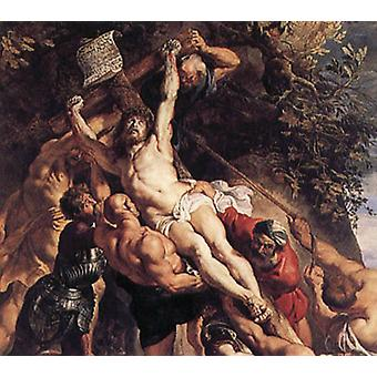 The Raishing of the Cross, Peter Paul Rubens, 60 x 50 cm