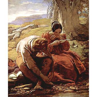 The Sonnet, William Mulready, 35 x 30.5 cm