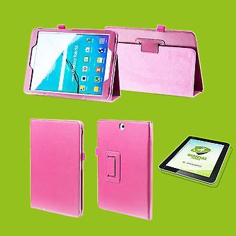 Für Apple iPad Pro 11.0 Zoll 2018 Hülle Cover Tasche Pink Kunst Leder Case Neu + 0,4 mm Hart Glas