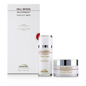 Swissline Cell Shock Age Intelligence Perfect Skin 1 Month Youth-Treatment - 45ml+60pads