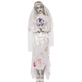 Till Death Do Us Part Zombie Bride Costume, UK Dress 8-10