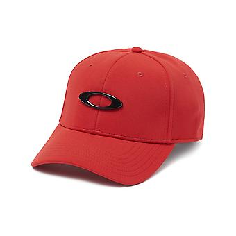 Oakley Red-Black Tincan Curved Peak Flexfit Cap
