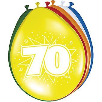 Ballon bunt Luftballons Zahl 70 Geburtstag 8 St. Deko Ballons Party