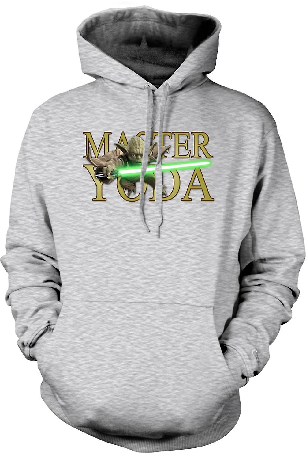 Mens Hoodie - Master Yoda - Jedi - Star Wars - Movie