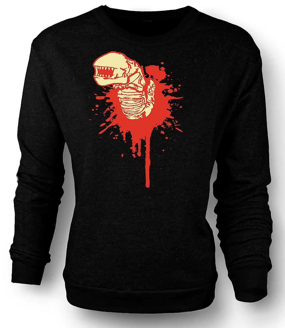 Mens Sweatshirt Alien ansikt Hugger - Horror - film