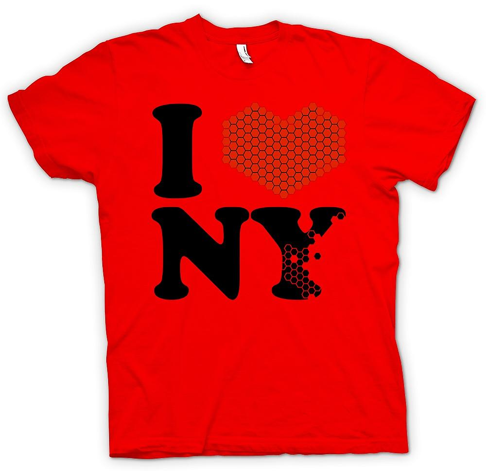 Mens t-shirt - ti amo cuore New York - NY