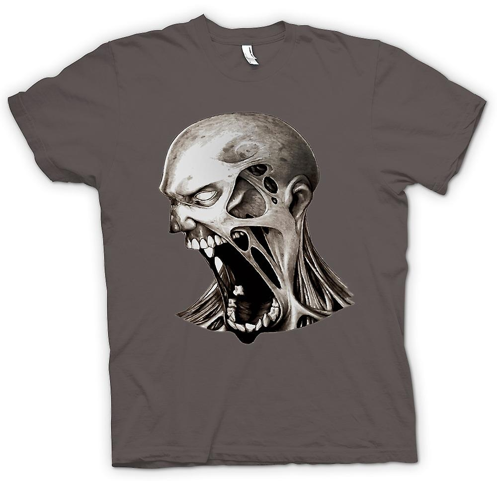 Womens T-shirt - Zombie Undead Mouth - Horror