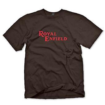 Мужская футболка - Royal Enfield логотип - классический мотоцикл