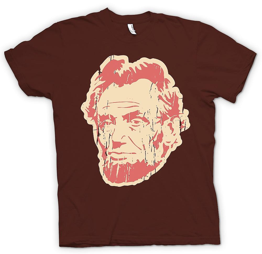 Heren T-shirt - Abraham Lincoln - Pop Art gezicht