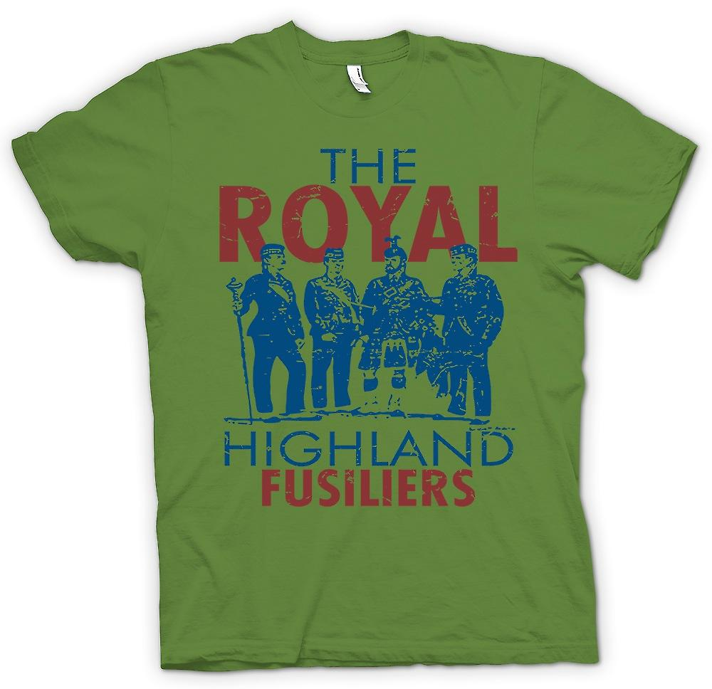 Heren T-shirt - de Royal Highland Fuseliers - Britse leger