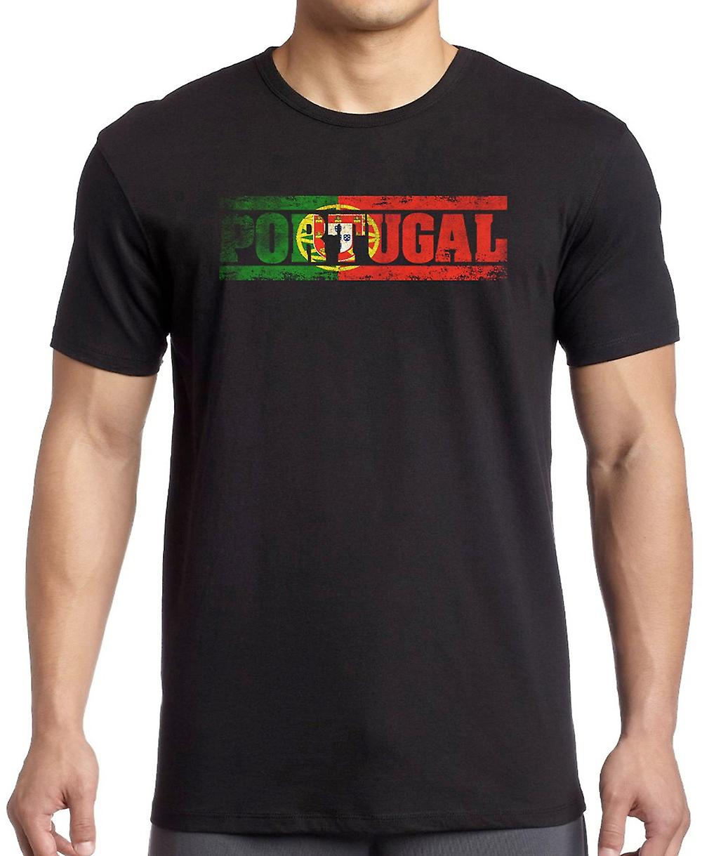 Portugees Portugal Flag - Woorden T-shirt - 3xl